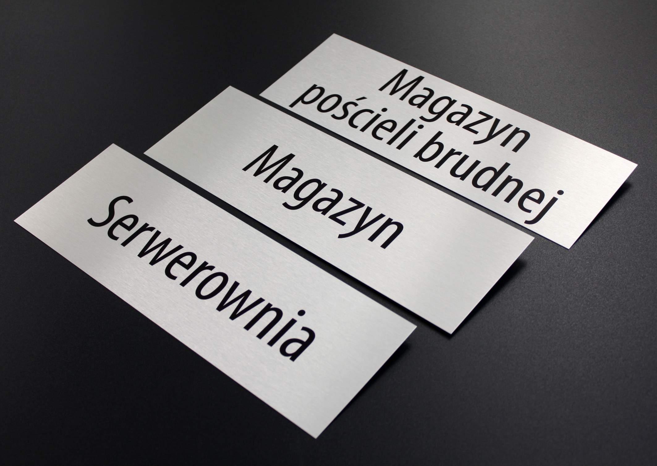 Chłodny tabliczka, tabliczka na drzwi, tabliczka z aluminium DK38